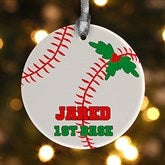 1 Sided Baseball Personalized Ornament - 16665-P