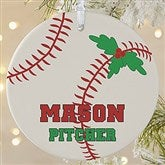 1 Sided Baseball Personalized Ornament-Large - 16665-1L
