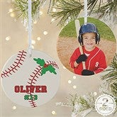 2 Sided Baseball Personalized Photo Ornament-Large - 16665-2L