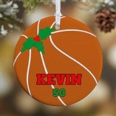 1 Sided Basketball Personalized Ornament-Small - 16666-P