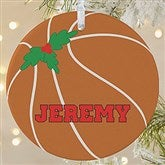 1 Sided Basketball Personalized Ornament-Large - 16666-1L