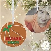 2 Sided Basketball Personalized Photo Ornament-Large - 16666-2L