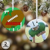 2 Sided Football Personalized Photo Ornament-Small - 16667-2