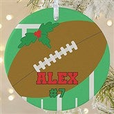 1 Sided Football Personalized Ornament-Large - 16667-1L