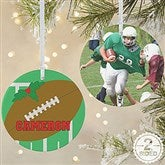 2 Sided Football Personalized Photo Ornament-Large - 16667-2L