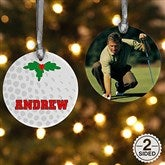 2 Sided Golf Personalized Photo Ornament - 16668-2