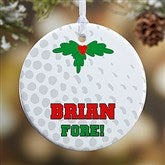 1 Sided Golf Personalized Ornament-Small - 16668-P