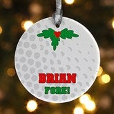 1 Sided Golf Personalized Ornament - 16668-P