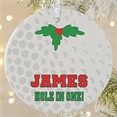 1 Sided Golf Personalized Ornament-Large - 16668-1L