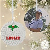 2 Sided Golf Personalized Photo Ornament-Large - 16668-2L
