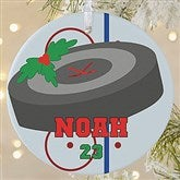 1 Sided Hockey Personalized Ornament-Large - 16669-1L
