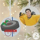 2 Sided Hockey Personalized Ornament-Large - 16669-2L