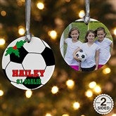 2 Sided Soccer Personalized Photo Ornament - 16670-2