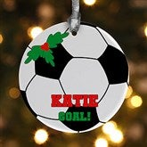 1 Sided Soccer Personalized Ornament - 16670-P