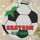 1 Sided Soccer Personalized Photo Ornament-Large - 16670-1L
