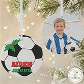 2 Sided Soccer Personalized Photo Ornament-Large - 16670-2L
