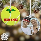 2 Sided Tennis Personalized Photo Ornament- Small - 16671-2
