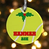 1 Sided Tennis Personalized Ornament - 16671-P