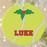 1 Sided Tennis Personalized Photo Ornament-Large - 16671-1L