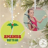 2 Sided Tennis Personalized Photo Ornament-Large - 16671-2L