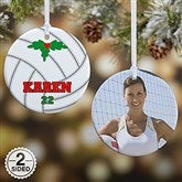 2 Sided Volleyball Personalized Photo Ornament- Small - 16672-2