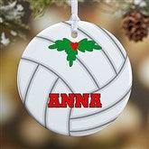 1 Sided Volleyball Personalized Ornament- Small - 16672-P