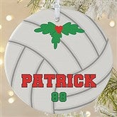 1 Sided Volleyball Personalized Ornament-Large - 16672-1L