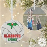 2 Sided Volleyball Personalized Photo Ornament-Large - 16672-2L