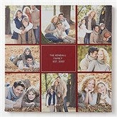 Family Photomontage Personalized Canvas Print -  16