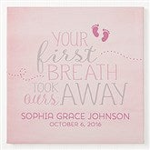 You Took Our Breath Away Personalized Canvas Print - 16