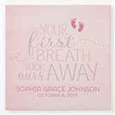 You Took Our Breath Away Personalized Canvas Print -  24