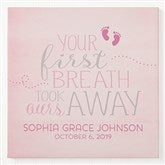 You Took Our Breath Away Personalized Canvas Print -  12