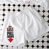 In Case of Emergency Personalized White Boxers - 16681