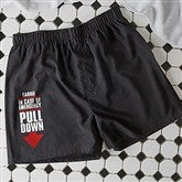 In Case of Emergency Personalized Black Boxers - 16681-B