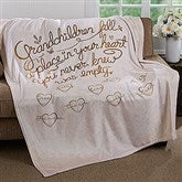 Grandchildren Fill Our Hearts Personalized 50x60 Fleece Blanket - 16692