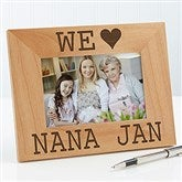 I/We Love Her Personalized Picture Frame- 4 x 6 - 16693-S