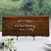 Rustic Wedding Reception Personalized Basswood Plank-Large - 16704-L