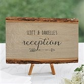 Rustic Wedding Reception Personalized Basswood Plank-Small - 16704-S