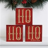 HO HO HO Personalized Shelf Blocks- Set of 3 - 16705