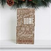 No Place Like Home Personalized Shelf Blocks- Set of 2 - 16706