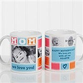 MOM Photo Collage Personalized Coffee Mug 11 oz.- White - 16708-W