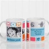 MOM Photo Collage Personalized Coffee Mug 11 oz.- White - 16708-W