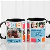 MOM Photo Collage Personalized Coffee Mug 11oz.- Black - 16708-B