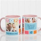 MOM Photo Collage Personalized Coffee Mug 11oz.- Pink - 16708-P