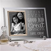 Loving Words To Her Personalized Glass Picture Frame - 16710