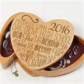 Graduation Memories Engraved Jewelry Box - 16715