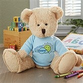 Get Well Personalized Baby Teddy Bear- Blue - 16722-B