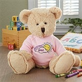 Get Well Personalized Baby Teddy Bear- Pink - 16722-P
