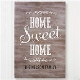 Home Sweet Home Personalized Canvas Print- 24
