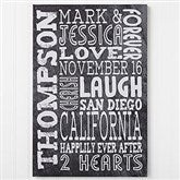 Just Us Personalized Canvas Print- 16